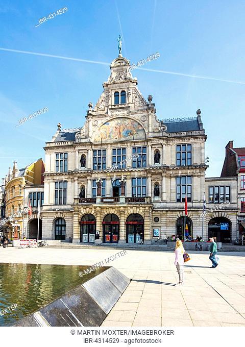 Schouwburg theater at Sint-Baafsplein, Ghent, Flanders, Belgium
