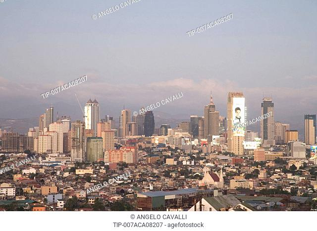 Asia, Philippines, Manila, Makati District, skyline city