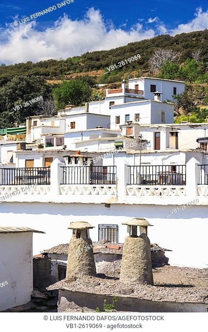 Mairena (Jubar) whitewashed village in Las Alpujarras, Granada, Spain