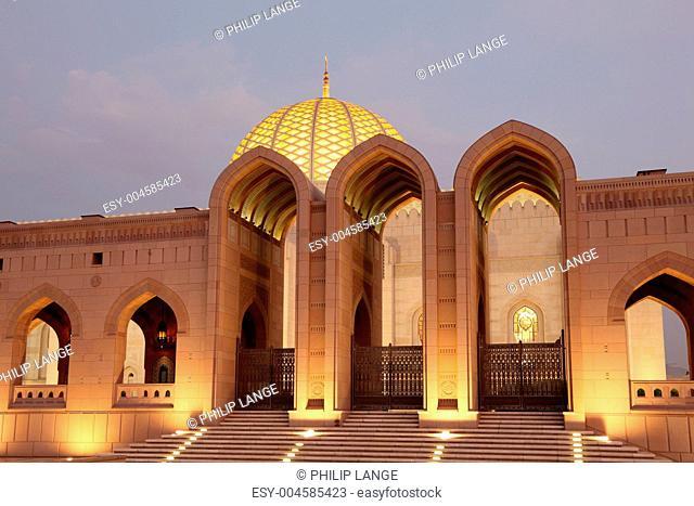 Große Sultan-Qabus-Moschee in Maskat, Oman