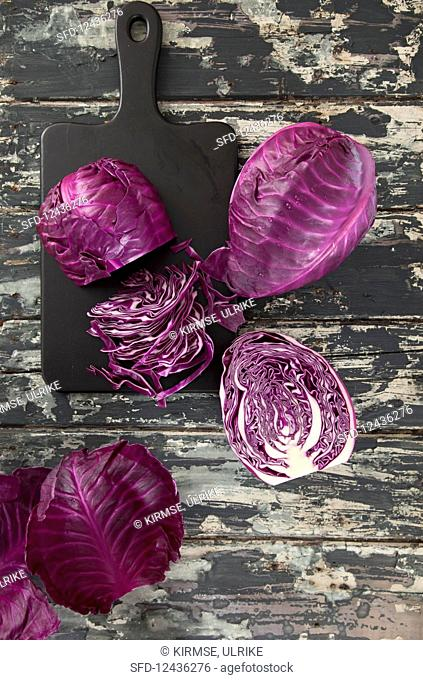 Purple pointed cabbage