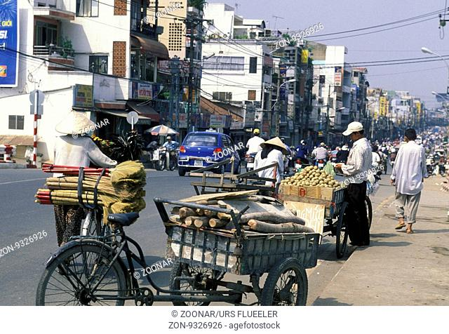 the city centre of ho chi minh city in Vietnam