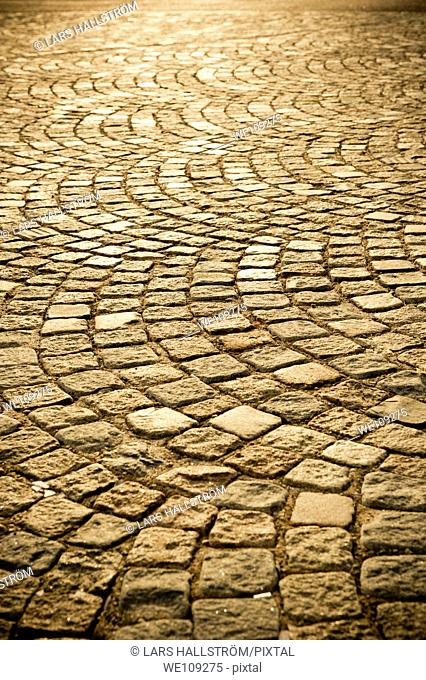 Old style street with Cobblestones