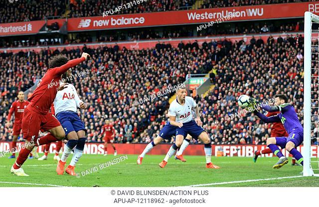 2019 EPL Premier League Football Liverpool v Tottenham Hotspur Mar 31st. 31st March 2019, Anfield, Liverpool, England; EPL Premier League football