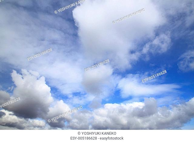 cloud in the blue sky