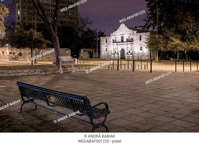 USA, Texas, San Antonio, The Alamo, former mission and fortress