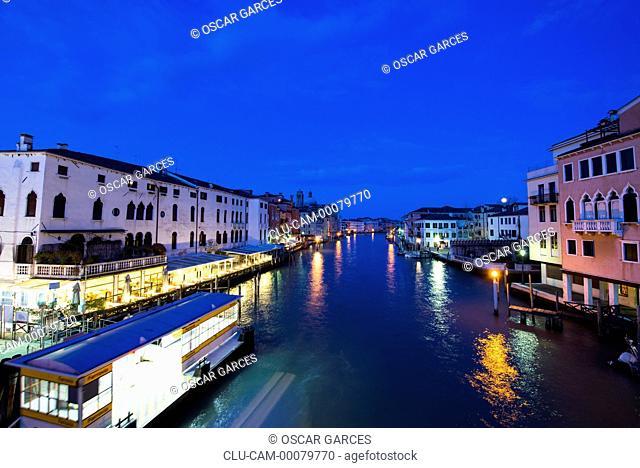 Sunset Grand Canal, Venice, Veneto, Italy, Western Europe