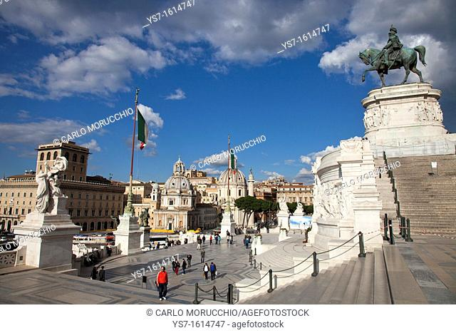 The Altar of the Fatherland, Rome, Lazio, Italy, Europe