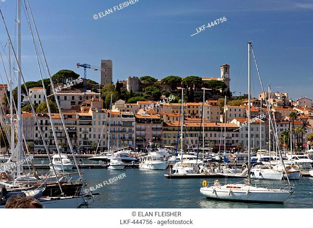 Le vieux Port de Cannes, the old port, Cannes, Cote d'Azur, Provence, France