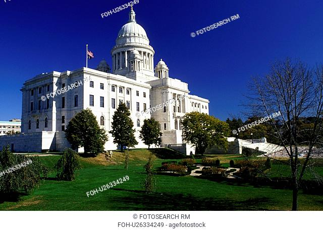 State House, State Capitol, Providence, Rhode Island, RI, The Rhode Island State House in the Capital City of Providence in the autumn
