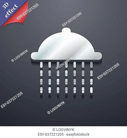 shower icon symbol. 3D style. Trendy, modern design with space for your text Vector illustration