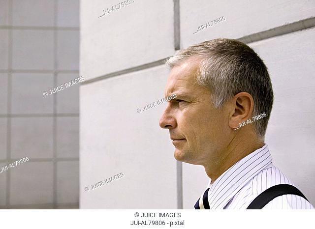 Close up of middle-aged businessman without suit jacket