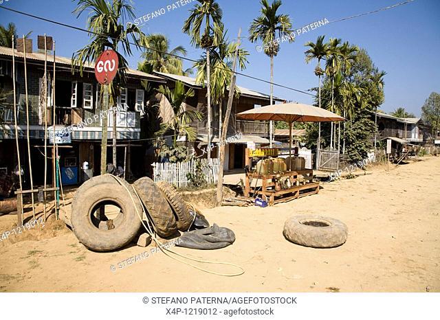 Gas Station near Myitkyina. Myanmar