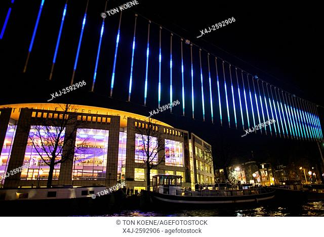 Light and water colors festival 2015-2016 in Amsterdam. Northern Lights by Aleksandra Stratimirovic