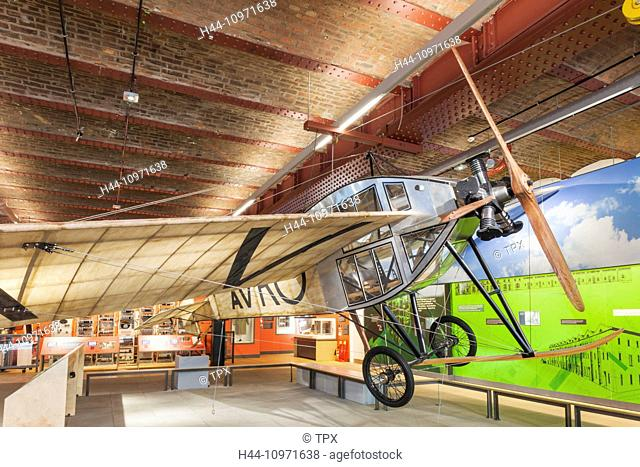 England, Manchester, city, Museum of Science and Industry aka MOSI, Exhibit of Avro Plane