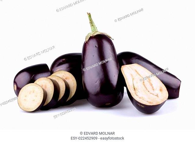 Eggplants or aubergines
