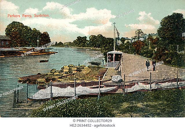 'Parkers Ferry, Surbiton', c1907. Artist: Unknown