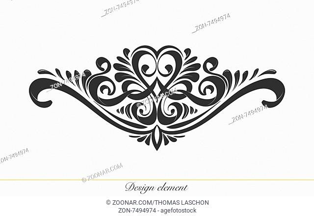 Ilustration of a hand drawn design element for decorations