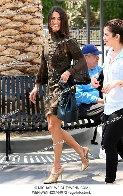 Nikki Reed seen at Universal studios where she was interviewed by Mario Lopez for television show Extra Featuring: Nikki Reed Where: Los Angeles, California