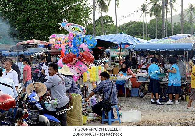 Ein Regional Markt auf der Insel Phuket im sueden von Thailand in Suedostasien