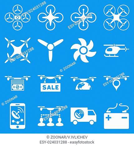 Drone service icon set