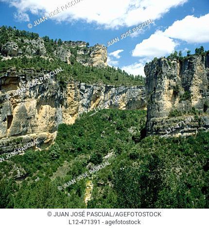 Hoz de Tragavivos gorge, Vadillos. Cuenca province, Castilla-La Mancha, Spain