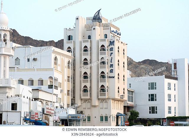 Muscat, Oman - Muttrah corniche (waterfront) Marina hotel in Oman