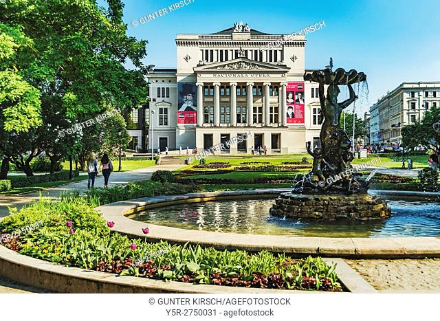 The Latvian National Opera (Latvijas Nacionala opera) was built, according to designs by Ludwig Bohnstedt, in the style of Neoclassicism from 1860 to 1863, Riga