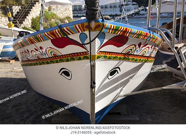 Fishing boat Taormina, Sicily