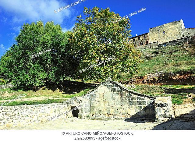 Fountain, XVIIIth century. The Alto Tajo Natural Park. Huertahernando, Guadalajara, Spain