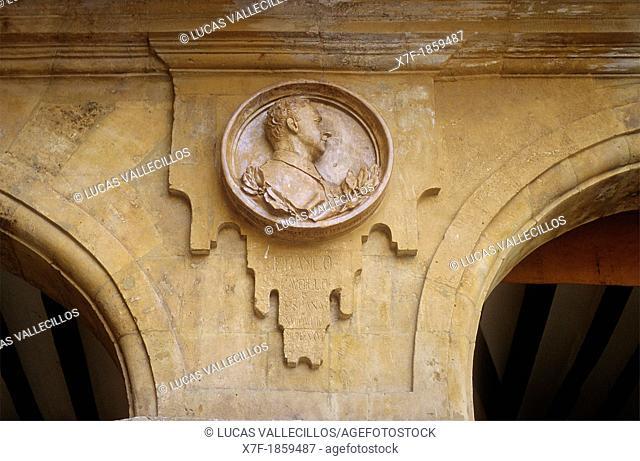 Francisco Franco,Plaza Mayor,Main Square,detail of a medallion, Salamanca,Spain
