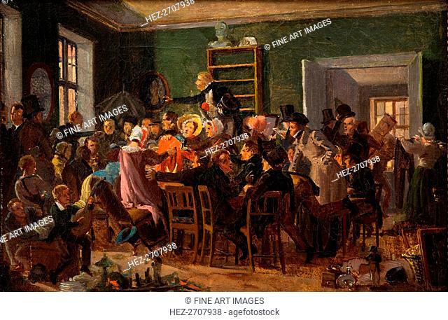 Scene from an auction, 1835. Creator: Marstrand, Wilhelm Nicolai (1810-1873)