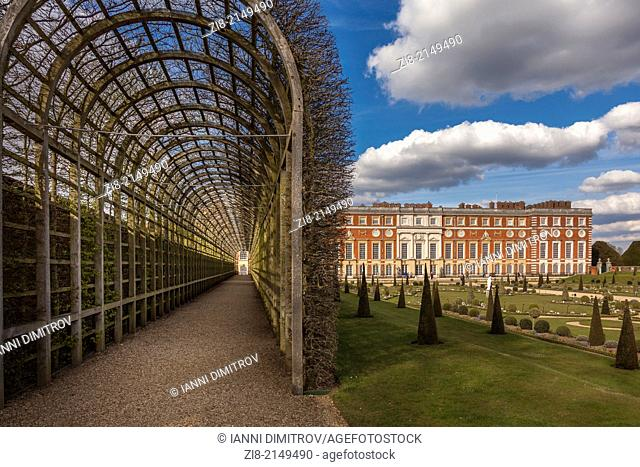 The Privy Garden,Hampton Court Palace,Richmond-Upon-Thames,Greater London
