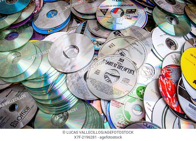 CD's storage to recycle, recycling center