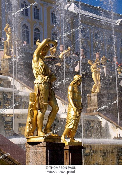 90900249, The Great Cascade, Peterhof Palace, St P