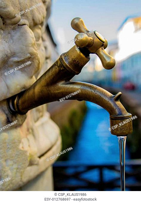 Public faucet in Tuscany
