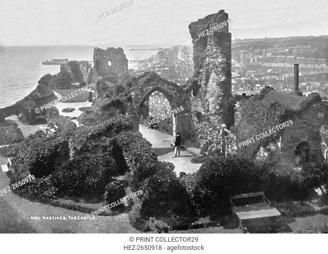 'Hastings. The Castle', 1907. Artist: Photochrom Co Ltd of London