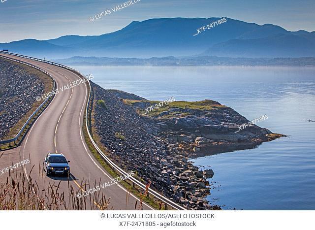 Landscape, in Atlantic Road or Atlanterhavsveien, from Bud to Kristiansund, More og Romsdal, Norway