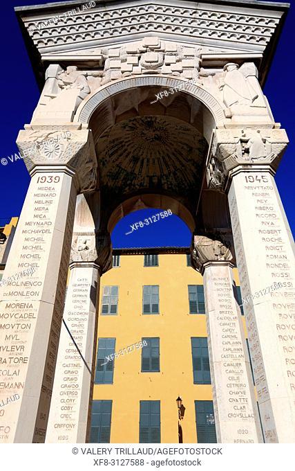 Monument aux morts, Grasse, Prealpes d'Azur, 06, Alpes-Maritimes, Cote d'azur, PACA,