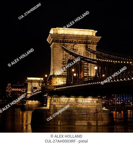 Szechenyi Chain Bridge at night