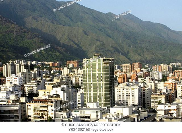 Los Palos Grandes neighborhood at the base of Avila mountain in Caracas, Venezuela, July 22, 2008