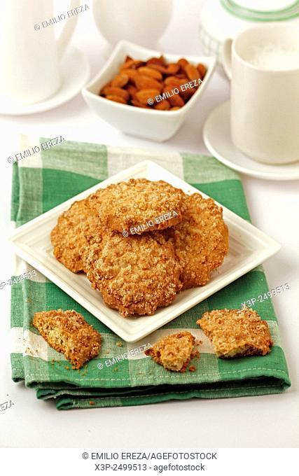 Almonds and orange pastries