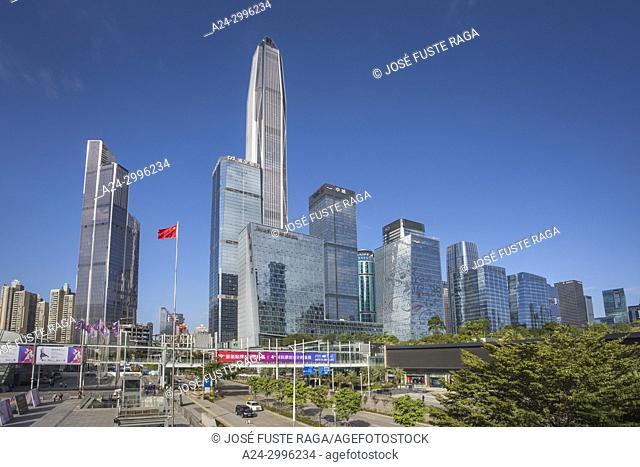 China, Shenzhen City, Shenzhen Pingan Tower, Futian District