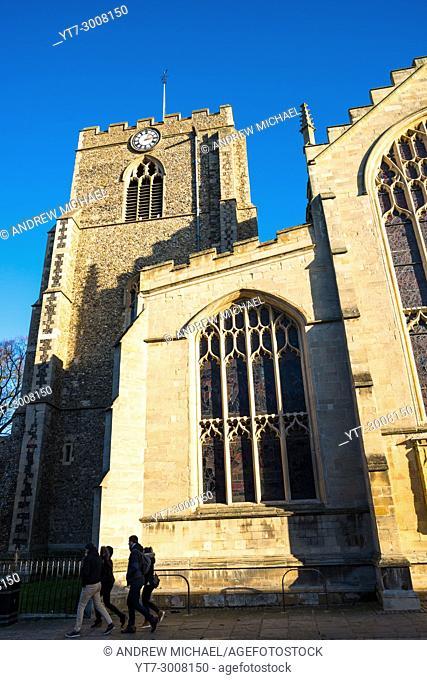 St Mary's Church in Crown Street, Bury St. Edmunds, Suffolk, England