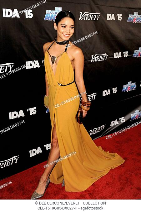 Vanessa Hudgens (wearing a Galia Lahav dress) at arrivals for 2015 Industry Dance Awards, Avalon Hollywood, Los Angeles, CA August 19, 2015
