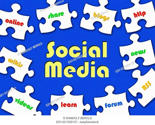 Social Media - Business Puzzle