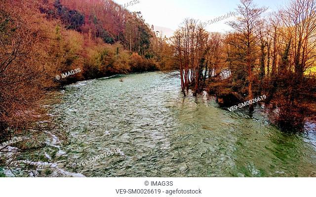 Narcea river, Dóriga, Salas, Asturias, Spain