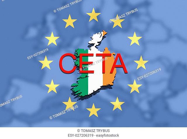 ceta - comprehensive economic and trade agreement,ireland map