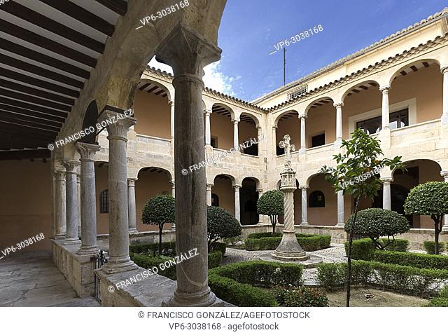 Cloister of the Cathedral of Orihuela in the provincica of Alicante, Spain