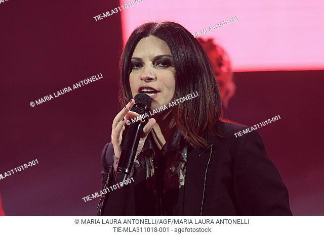 The Italian singer Laura Pausini in concert, Rome, ITALY-30-10-2018